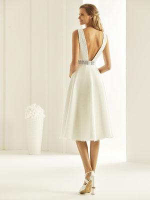 A-Linie Brautkleid mit Reißverschluss hinten