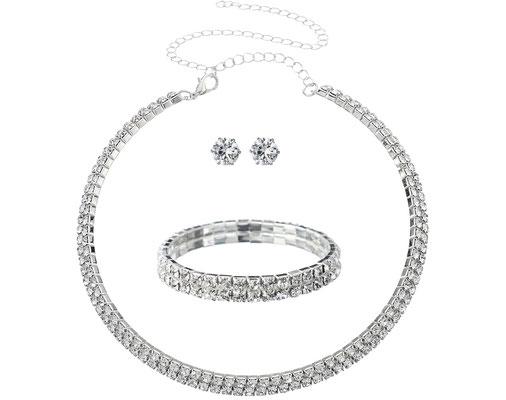 Brautschmuck Set - Kette Ohrringe Armband - Sancarda Hochzeitsmode Coburg