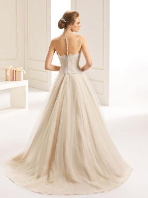 Duchesse-Linie Brautkleid Knöpfe und Reißverschluss hinten