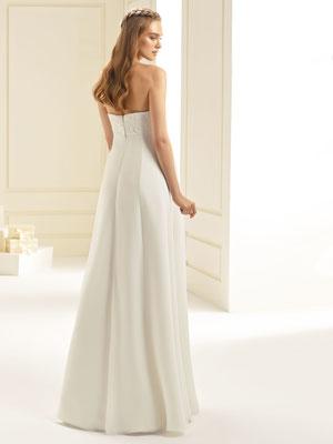 Umstands-Brautkleid im Empire Stil mit Reißverschluss hinten