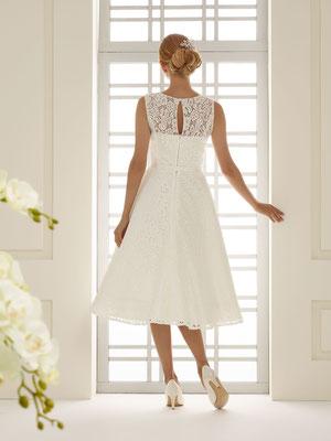 Vintage Brautkleid in 3/4 Länge verdeckter Reißverschluss hinten