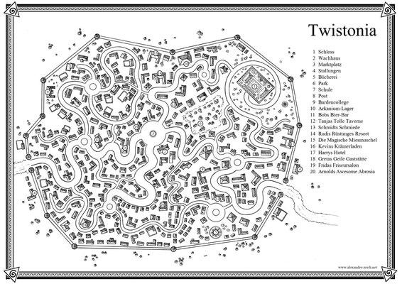 Twistonia, die gewundene Stadt