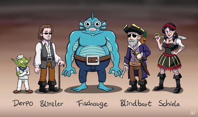 Kapitän Blindbart und seine Piratenbande