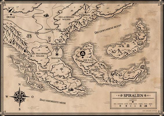 Spiralien. Hauptstadt: Twistonia - die gewundene Stadt