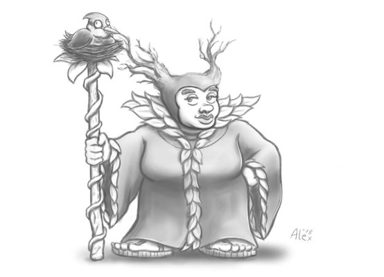 Maficelent, Druidin der Smaragdgrünen Enklave