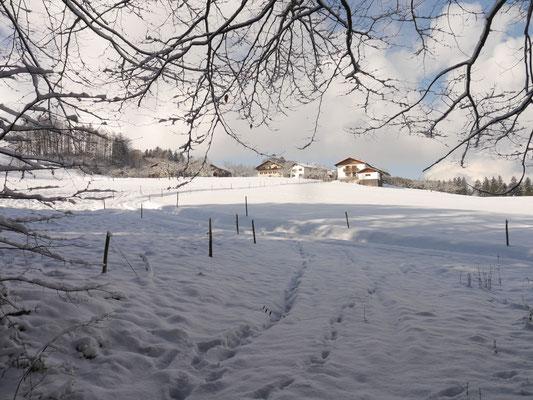Winterlandschaft 2018 mit Blick auf Eiding