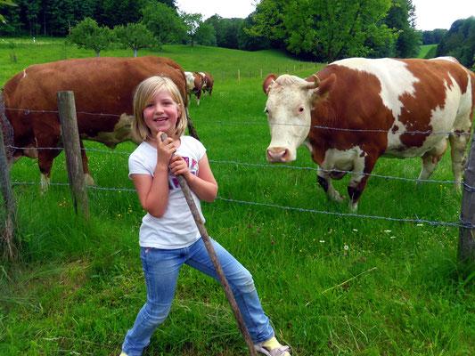 Kühe hüten macht richtig Spaß...