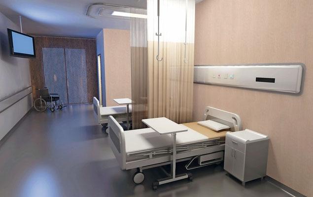Ein innovativer Wandbelag reduziert die Keimbelastung deutlich und könnte dazu beitragen Infektionen in Patientenzimmern zu verhindern.