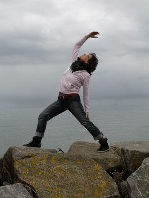 Yogaübungen auf der schöne Ostseeinsel Poel
