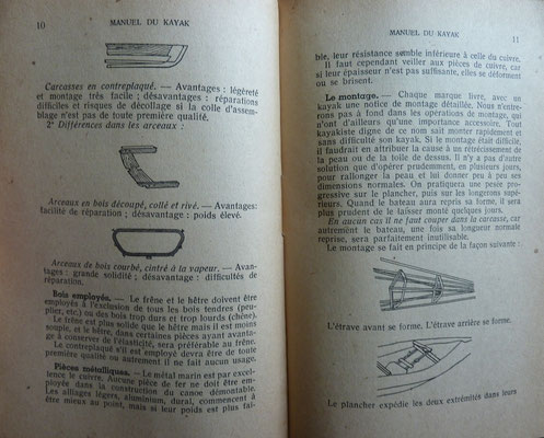 MAHUZIER, Manuel du kayak, 1945 (la Bibli du Canoe)