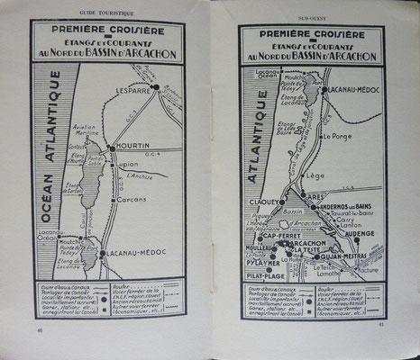 La TOMBELLE (de) et SAMAZEUILH, Guide touristique SUD-OUEST Cyclo Canoë Camping, Delmas, 1938 (la Bibli du Canoe)