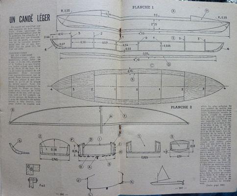 LIEUTAUD, Un canoë léger, revue Bricolons n° 61, 1952 (la Bilbi du Canoe)