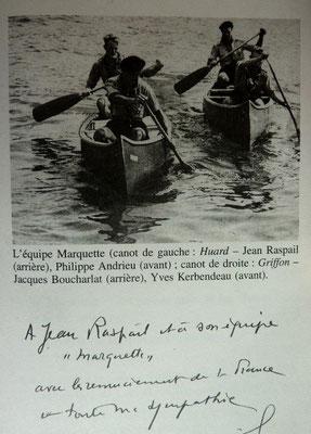 RASPAIL, En canot sur les chemins d'eau du Roi, Albin Michel, 2005 (la Bibli du Canoe)