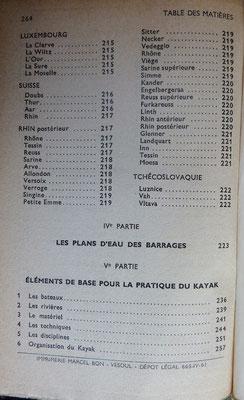 CHASSANG et MAHUZIER, Guide Susse Canoë Kayak en France, 1950 (la Bibli du Canoe)