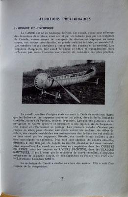 FEDERATION FRANCAISE de CANOE-KAYAK, Canoë kayak, Enseignement de base, 1966 (la Bibli du Canoe)