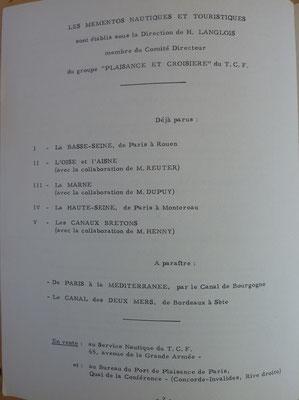 TOURING CLUB DE FRANCE, Itinéraire, Paris-Amsterdam, TCF, 1957 (la Bibli du Canoe)