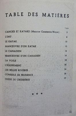 BABELAY-BERTILLOT & CONSTANTIN-WEYER, Canoes et kayaks, 1942 (la Bibli du Canoe)