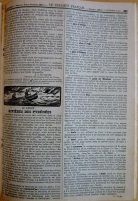 NOËL, Le canoé - Rivières des Pyrénées, le Chasseur Français, 1950 (la Bibli du Canoe)