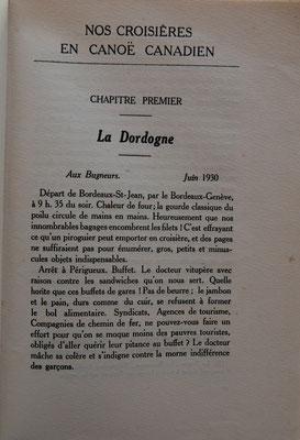 SAMAZEUILH, Nos croisières en canoë canadien, Picquot, 1933 (la Bibli du Canoe)