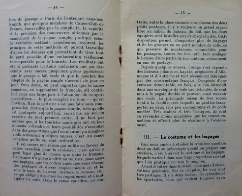 TOURING CLUB DE FRANCE & CANOE CLUB DE FRANCE, Guides du canoëiste sur les rivières de France, TCF, 1920-1951 (la Bibli du Canoe)