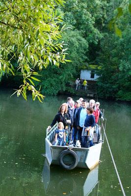Der Geschichtsverein lud zur Jubiläumsfahrt des Rollschiffs zum 325. Geburtstag (Foto: Horz)