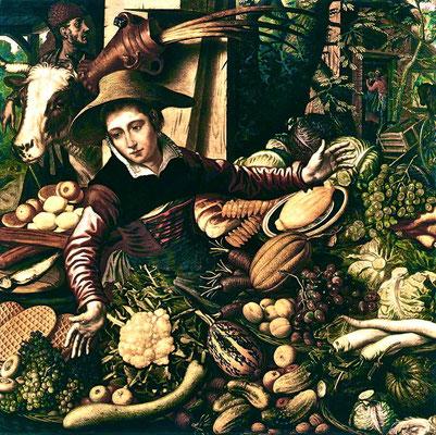 Marktfrau mit Gemüsestand; Pieter Aertsen (circa 1508–1575) [Public domain], via Wikimedia Commons