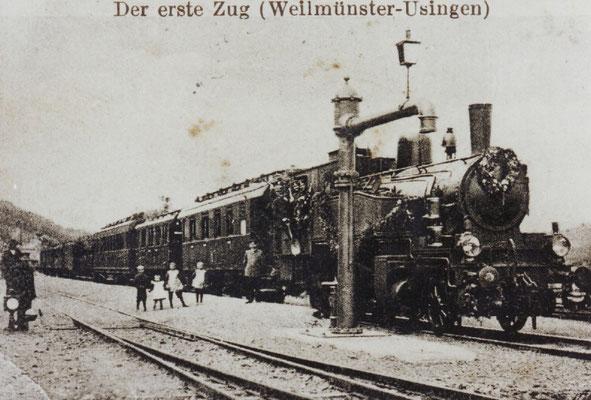 Der erste Zug Weilmünster-Usingen; Sonderausstellung zur Weiltalbahn; ©Geschichts- und Heimatverein Rohnstadt, Wolfgang Metzler