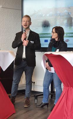 Dr. Matthias Heuberger (IZGS der EHD) und Prof. Dr. Andrea Kuhlmann (TU Dortmund) stellen ihre Ergebnisse vor. | Foto: LiA