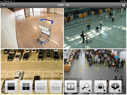 Zugriff über Ihr iPhone oder iPad