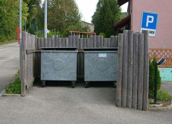 Vor der Sanierung des Container-Platzes