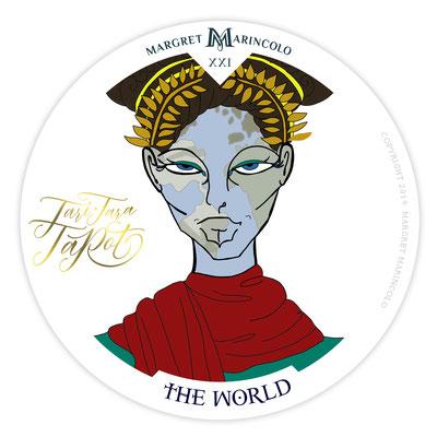 Die Welt (21) im Tarot als Tageskarte von Margret Marincolo: Du kreierst dir deine Welt, liebe sie.