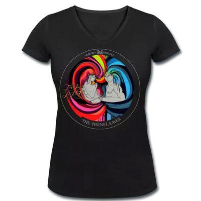 T-Shirt  twin-flames: Ziehe mit leuchtenden Farben deinen Seelenpartner an. Mit diesem hier gehst du durch Dick und Dünn.