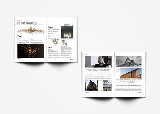 Diseño y maquetación del Nº1 de la revista Design Marbella