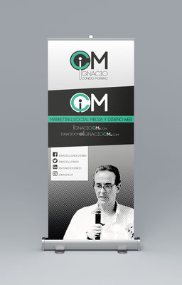 Diseño de identidad corporativa y roll up de Ignacio CM