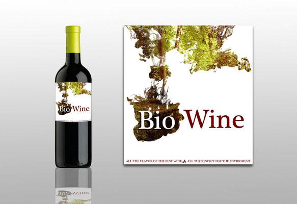 Diseño de logo y etiquetado de BIO WINE