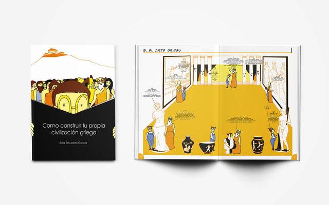 """Diseño, ilustración y guión del libro  """"Cómo construir tu propia civilización griega"""""""