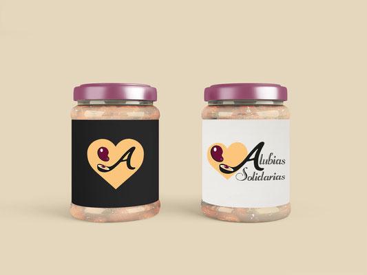 Diseño de identidad corporativa y packaging para Alubias Solidarias