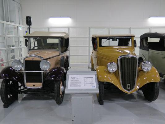 1933年ダットサン12型フェートン&1935年14型ロードスター