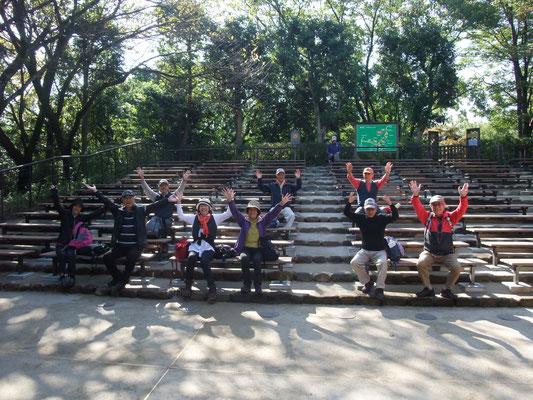 一番高所にある船越の歌舞伎舞台の客席