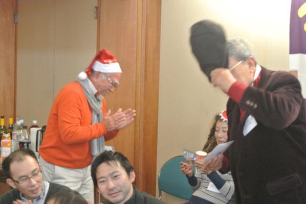 最初のビンゴは浜田さんおめでとう