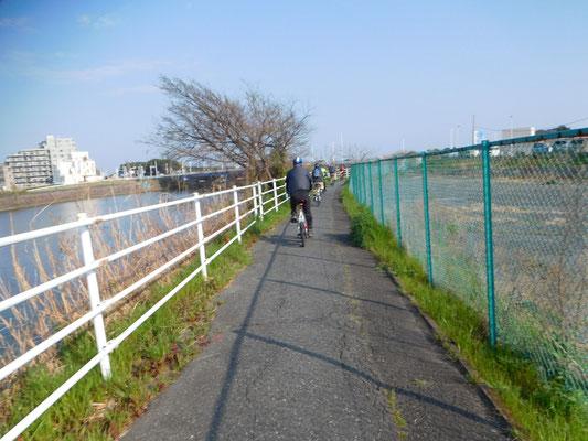 金目川サイクリングロードから平塚集合地へ凱旋