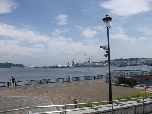 横須賀本港 前方は米海軍横須賀基地