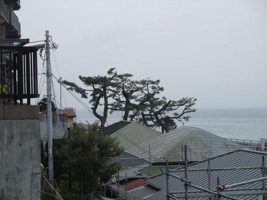 松の辺りに元国鉄総裁十河家の別荘