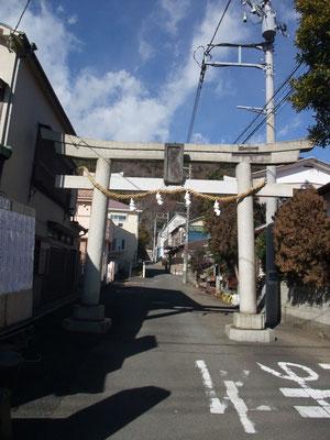 往時東海道から吾妻神社に詣でる参道
