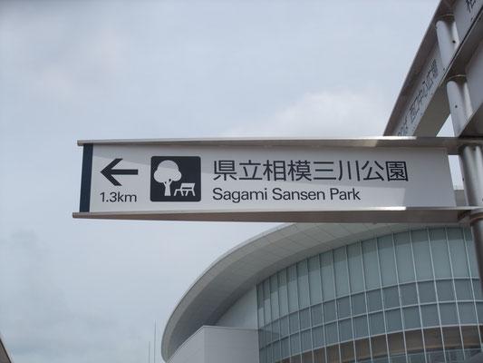 三川スポーツ公園へ