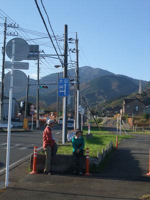 大山麓の石倉橋バス停から伊勢原駅へ