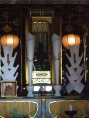 堂内の夷さま。関西では戎さん。