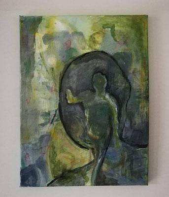 30x40 cm acryl on canvas 2020/ verkocht