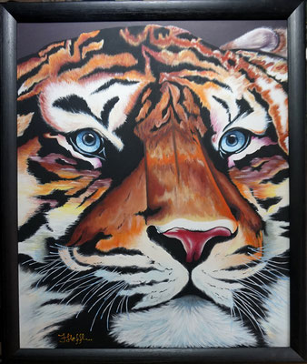 Tigerkopf; 50x 60cm; Acryl auf Leinwand
