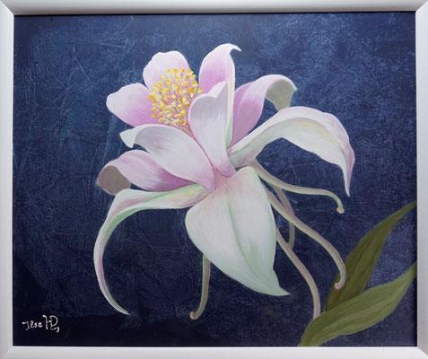 Blumengruß; 50x 60cm; Acryl auf Leinwand